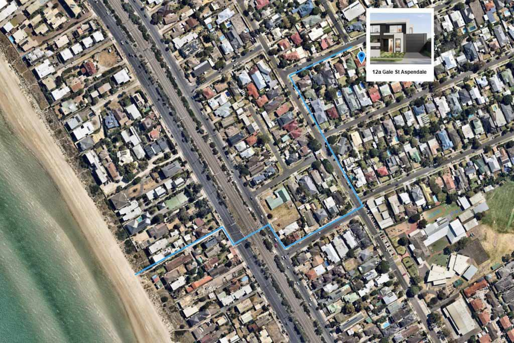 Map 12a Gale St Aspendale
