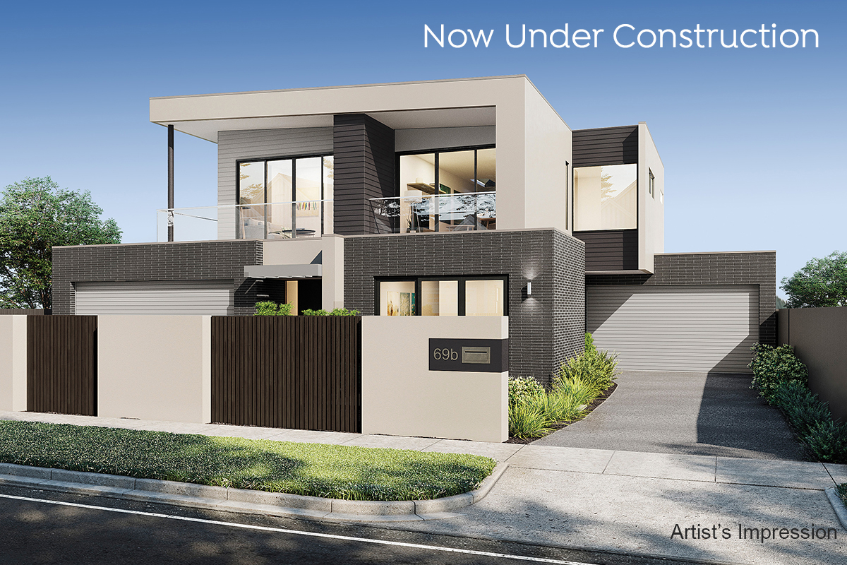 69Sims St_Front Facade_now under construction
